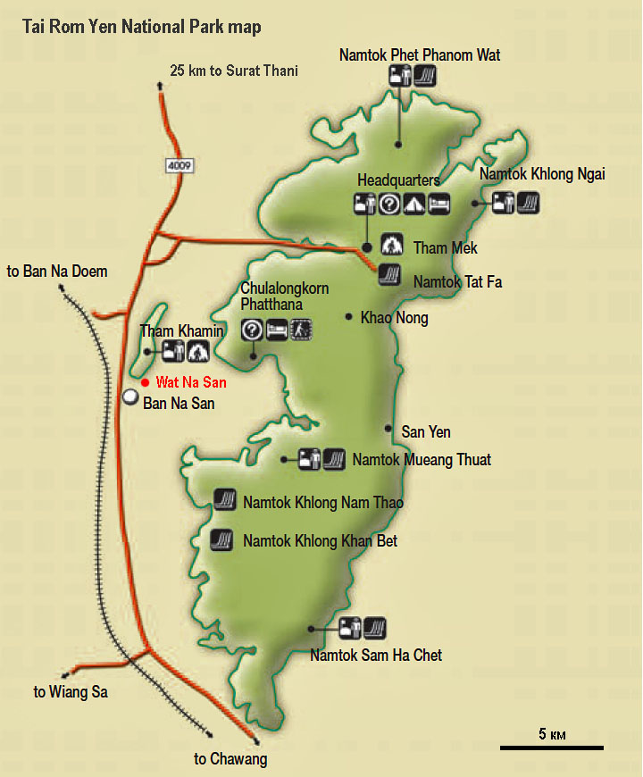 Tai Rom Yen NP map