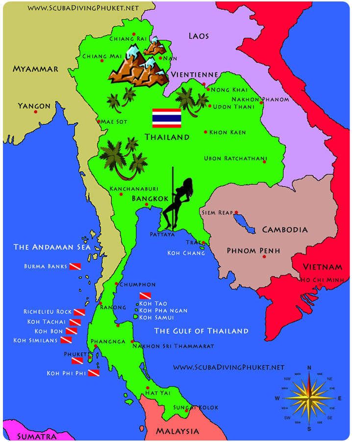 travel map of thailand