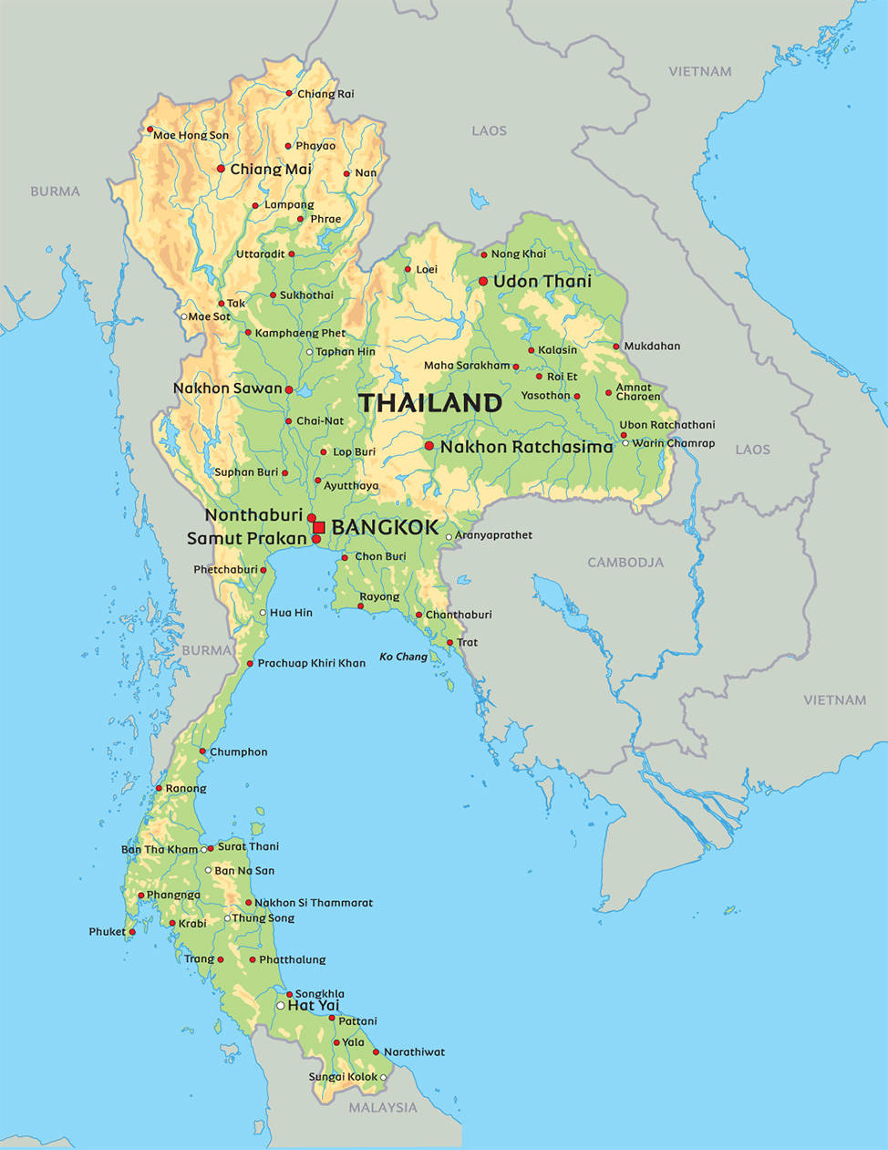 05a Kort Over Thailand