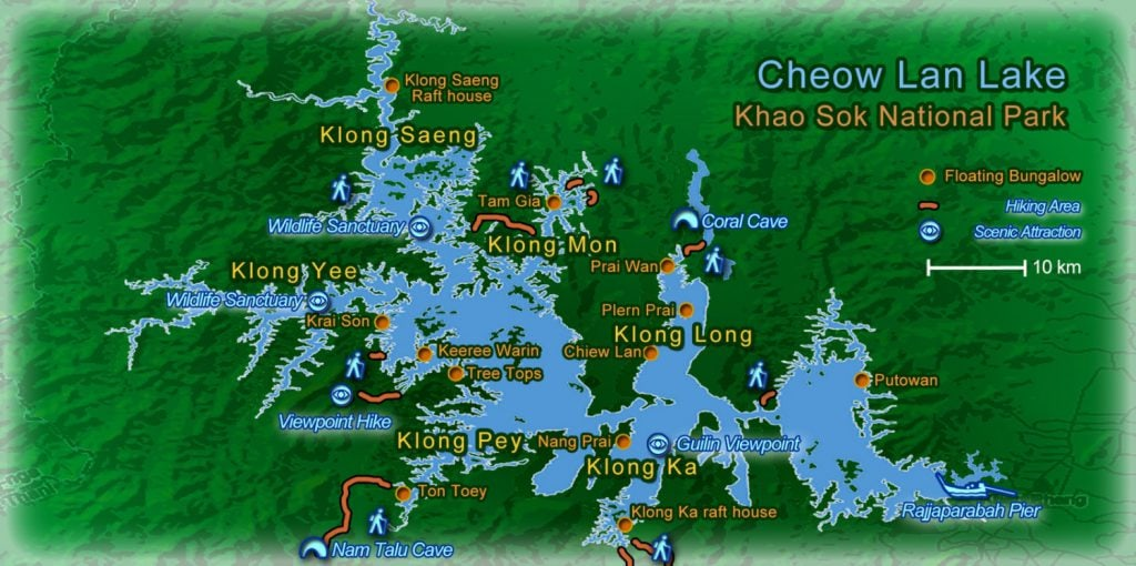 Khao Sok Lake Map1